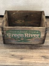 Vintage Wood Soda Crate Green River in Fort Campbell, Kentucky