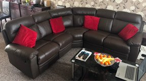 Brown Leather Corner Recliner Sofa in Lakenheath, UK