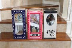 THREE RARE LIMITED EDITION ELVIS PORCELAIN DECANTERS (SEALS NOT BROKEN) WITH MUSIC BOX in Conroe, Texas