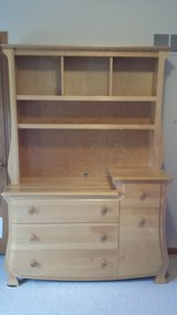 Dresser/changing table with hutch in Shorewood, Illinois
