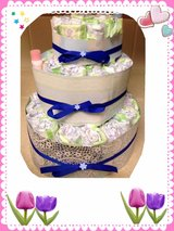 """BABY SHOWER BOY DIAPER CAKES** in Okinawa, Japan"