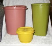 Vintage Tupperware containers in Okinawa, Japan
