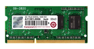 2x Transcend 2GB DDR3L 1600 SO RAM (4GB Together) in Ramstein, Germany