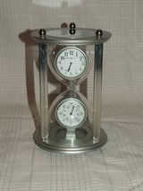 Howard Miller Hourglass Time and Temperature Clock in Aurora, Illinois