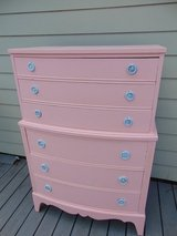 Vintage Dixie Shabby Chic Highboy Dresser in Chicago, Illinois