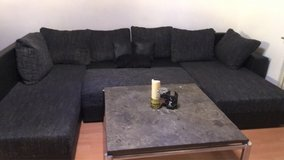 Sofa with sleeping function + table in Ramstein, Germany