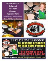 ** BEST DRUM LESSONS ** multiple locations in Naperville, Illinois