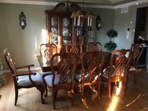 Cherry Dining Table/Chairs and China Cabinet in Aurora, Illinois