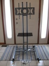 """TV Stand w/Adjustable Shelf, Fits Monitors 32""""-50"""", Locking Wheels-Like NEW in Naperville, Illinois"""