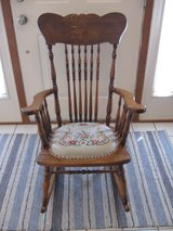 Lovely Antique Rocker/Rocking Chair- Circa 1900 in Chicago, Illinois