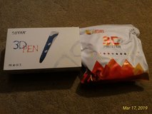 Like New Soyan 3D Pen for Arts and Crafts, 3D Molding, Sculpting and Doodling w/ Filaments in Ramstein, Germany