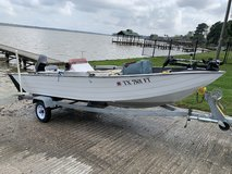 1991 Aluminum V-Hull Boat, Motor and Trailer in Kingwood, Texas