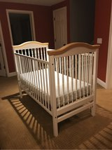 White Sleigh Crib with Maple in Joliet, Illinois