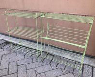 2 Vintage metal wire rack shelves in Chicago, Illinois