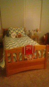 SOLID PINE BUNK BED SET W/TWIN MATTRESSES in Aurora, Illinois