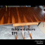 Antique Refinished table w/chairs in Fort Riley, Kansas