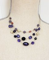 "Blue Purple Black Necklace Multi 18"" Strand Chain Pendant Bead in Kingwood, Texas"