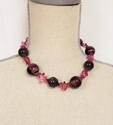 "Purple Plum Lavender Chunky Plastic Bead 18"" Necklace Strand Chain Pendant Bead in Kingwood, Texas"