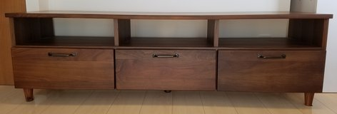 Wood TV Stand Entertainment Center Brand New in Okinawa, Japan