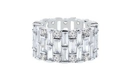 CLEARANCE ***BRAND NEW***Baguette Swarovski Crystals Eternity Ring: 9*** in Houston, Texas