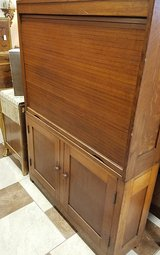 Oak Antique Industrial Tambour Door Cabinet in Fort Leonard Wood, Missouri