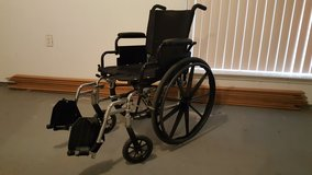 Regular size wheelchair in great shape. Shows no wear in Conroe, Texas