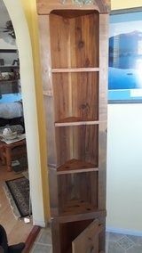 Cornerpiece with shelves and door (all handmade) in Alamogordo, New Mexico