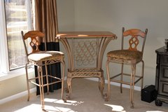 Table with wine rack and stools in Aurora, Illinois