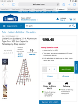 Ladder little giant 21 ft in Fort Knox, Kentucky