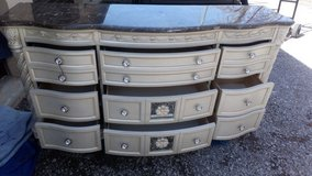 marble top dresser with 2 mirrors in Clarksville, Tennessee