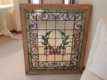 Beautiful Large Framed Stained Glass Window in Bolingbrook, Illinois