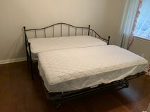 Twin Daybed with Pop Up Trundle and Mattresses in Kingwood, Texas