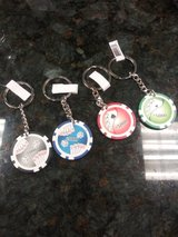 100 pieces new Poker Chip Key Chains in Naperville, Illinois