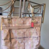 CLEARANCE...Coach Tattersall Sequin Lurex Glam Tote Handbag in Kingwood, Texas