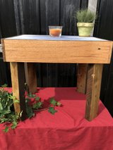 barn wood side table in Hopkinsville, Kentucky