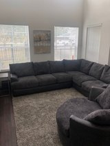 Large Sectional with Round Cuddle Chair in The Woodlands, Texas