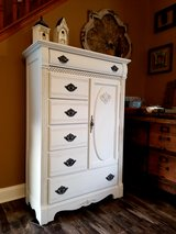Beautiful refinished dresser Armoire in Naperville, Illinois