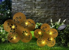 2 pc. Set Solar LED iron flowers and butterflies in Ramstein, Germany