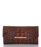 ***BRAHMIN Luxury Melbourne Collection Crocodile-Embossed Soft Checkbook Wallet** in Kingwood, Texas