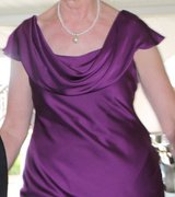dressy full length gown,  beautiful sequin back, great for mother at wedding in Aurora, Illinois