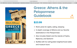 Greece guide book, by Rick Steves in Aurora, Illinois