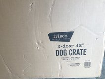 "42"" dog crate double door in Aurora, Illinois"