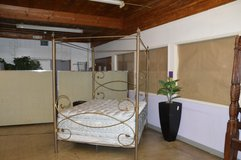 Wrought Iron Queen Canopy Bed Frame in Fort Lewis, Washington