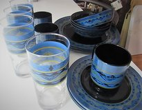 set of 4 dishes come with glasses also in Alamogordo, New Mexico