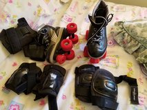 Roller skates and pads kids size 3 in Naperville, Illinois