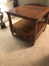 2 Square Wood End Tables in Naperville, Illinois