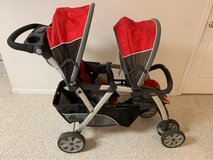 Chicco double stroller in Wheaton, Illinois
