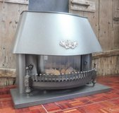 Open Fireplace Uses Natural Gas in Ramstein, Germany