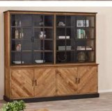 United Furniture - Geneve Large Display Cabinet made from Recycled Teak including Delivery in Shape, Belgium