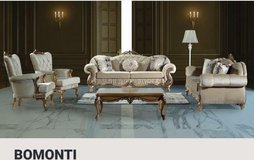 United Furniture - Bomonti - 2 x Sofa + 2 x Chair + Coffee Table + Delivery in Beige and Cream in Shape, Belgium